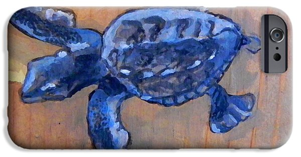 Animal Photograph Mixed Media iPhone Cases - Sea Turtle baby iPhone Case by W Gilroy