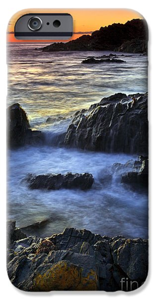 Ocean Sunset iPhone Cases - Second Valley Sunset iPhone Case by Bill  Robinson