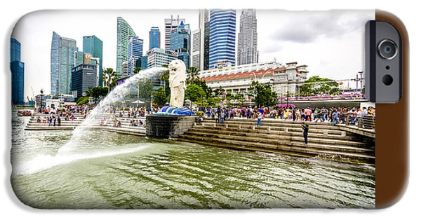 Built Structure iPhone Cases - Singapore Cityscape iPhone Case by Jijo George