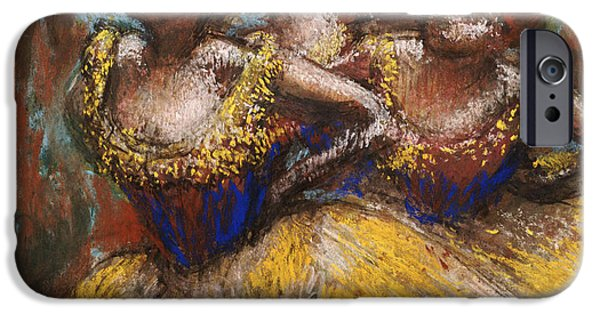 Degas iPhone Cases - Three Dancers iPhone Case by Edgar Degas