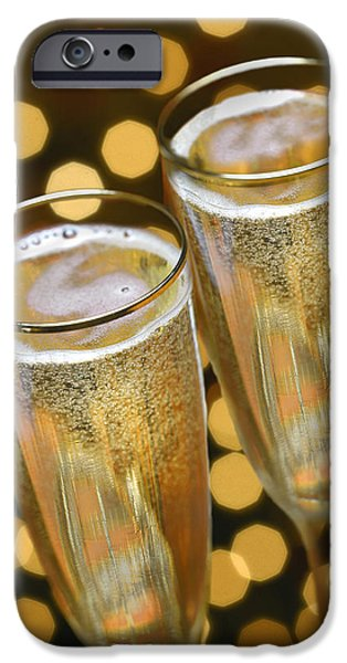 Champagne iPhone Cases - Untitled iPhone Case by Simon Kayne