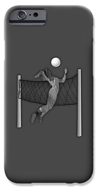Beach iPhone Cases - Vollyball Collection iPhone Case by Marvin Blaine