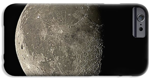 Lunar iPhone Cases - Waning Gibbous Moon iPhone Case by Eckhard Slawik