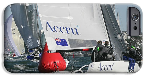 Sailing iPhone Cases - Weather Rounding iPhone Case by Steven Lapkin