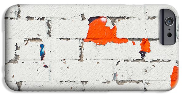 Torn iPhone Cases - Weathered wall iPhone Case by Tom Gowanlock