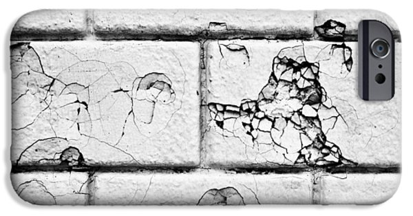 Rebuilt iPhone Cases - White brick wall iPhone Case by Tom Gowanlock