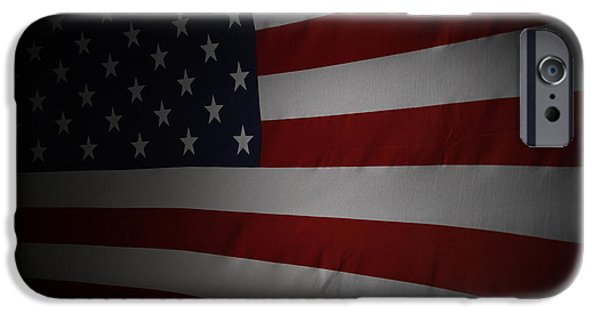 Nation iPhone Cases - USA flag iPhone Case by Les Cunliffe