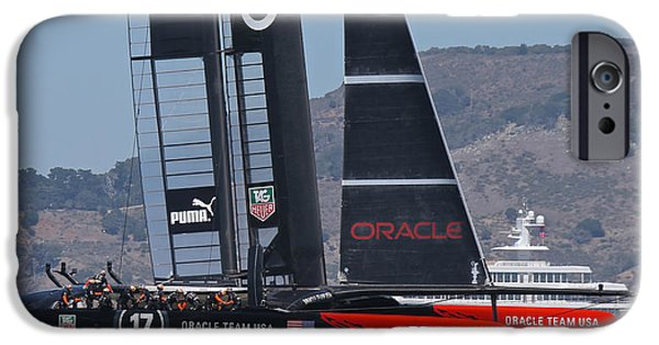 Sausalito iPhone Cases - Americas Cup 34 iPhone Case by Steven Lapkin