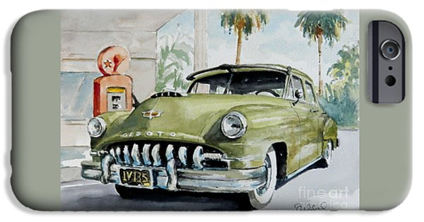 Old Cars iPhone Cases - 52 Desoto iPhone Case by William Reed