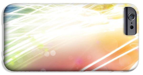 Colorful Abstract iPhone Cases - Abstract background iPhone Case by Les Cunliffe