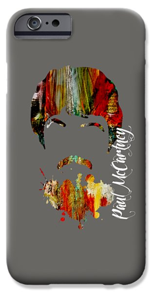 Beatles iPhone Cases - Paul McCartney Collection iPhone Case by Marvin Blaine