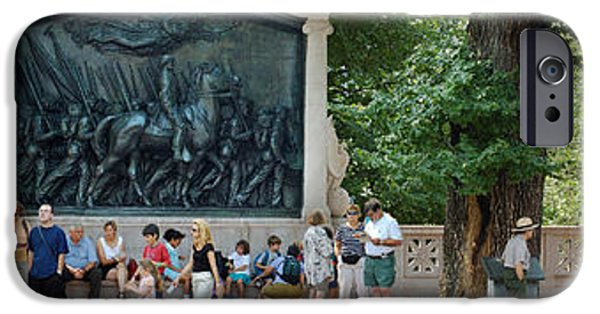 Boston Ma iPhone Cases - 54th Regiment Memorial iPhone Case by Gordon Gaul
