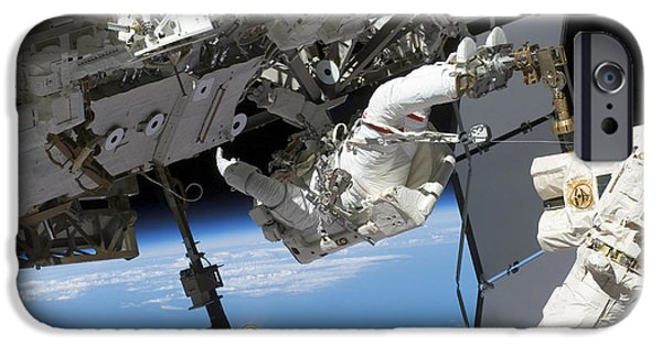 Component iPhone Cases - Astronaut Participates iPhone Case by Stocktrek Images