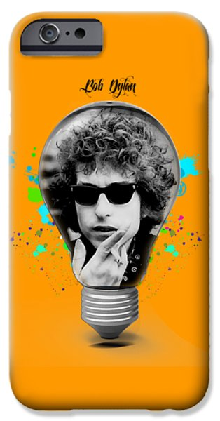 Musical iPhone Cases - Bob Dylan Collection iPhone Case by Marvin Blaine