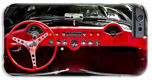 Convertible iPhone Cases - 56 Corvette Convertible iPhone Case by Douglas Pittman