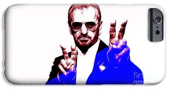 Beatles iPhone Cases - Ringo Starr Collection iPhone Case by Marvin Blaine