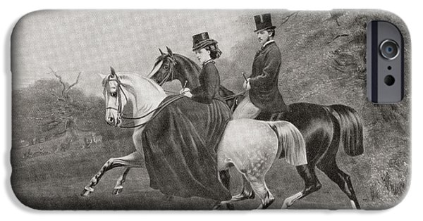 Charlotte Drawings iPhone Cases - Albert Edward, Prince Of Wales, Future iPhone Case by Ken Welsh