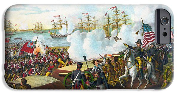 Flag iPhone Cases - Battle Of New Orleans iPhone Case by Granger