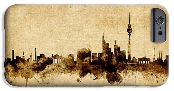 Berlin iPhone Cases - Berlin Germany Skyline iPhone Case by Michael Tompsett