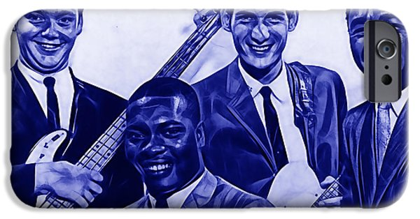 Booker T. iPhone Cases - Booker T. and The M.Gs iPhone Case by Marvin Blaine