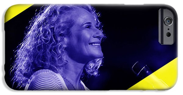 Pop Mixed Media iPhone Cases - Carole King Collection iPhone Case by Marvin Blaine