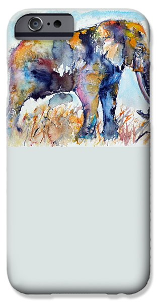 Buy iPhone Cases - Colorful elephant iPhone Case by Kovacs Anna Brigitta