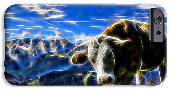 Animals iPhone Cases - Cow iPhone Case by Marvin Blaine