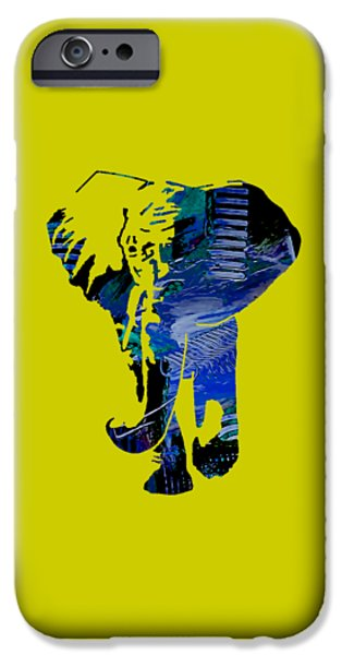 Jungle iPhone Cases - Elephant Collection iPhone Case by Marvin Blaine