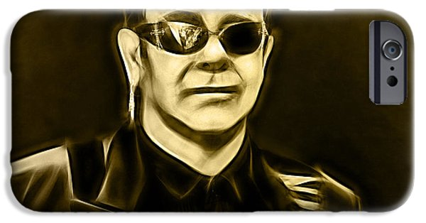 John iPhone Cases - Elton John Collection iPhone Case by Marvin Blaine