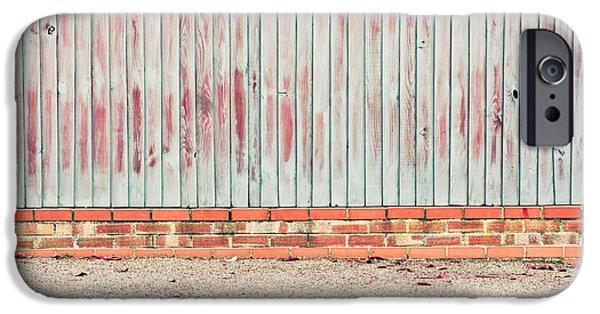 Asphalt iPhone Cases - Fence panels iPhone Case by Tom Gowanlock