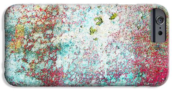 Lichen iPhone Cases - Grungy background iPhone Case by Tom Gowanlock