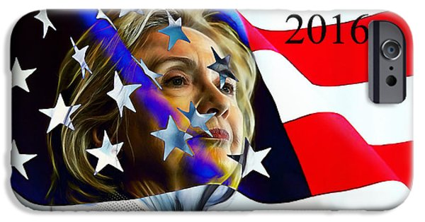 Hillary Clinton iPhone Cases - Hillary Clinton 2016 Collection iPhone Case by Marvin Blaine