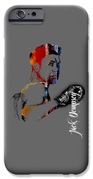 Retro iPhone Cases - Jack Dempsey Collection iPhone Case by Marvin Blaine