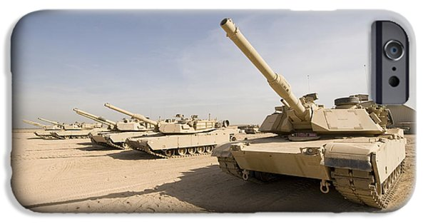 Iraq iPhone Cases - M1 Abrams Tank At Camp Warhorse iPhone Case by Terry Moore