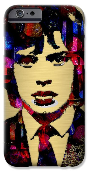 Red Rock iPhone Cases - Mick Jagger Collection iPhone Case by Marvin Blaine