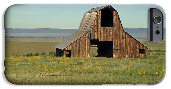 Old Barns iPhone Cases - Old Barns Of California iPhone Case by Mountain Dreams