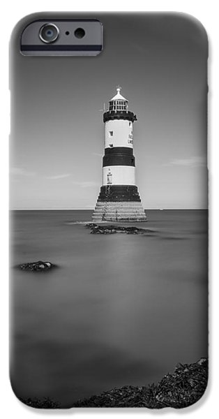 Lighthouse iPhone Cases - Penmon Lighthouse iPhone Case by Ian Mitchell
