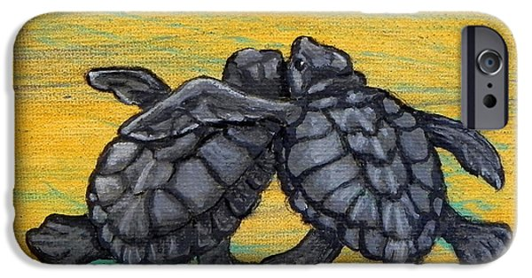 Animal Photograph Mixed Media iPhone Cases - Sea Turtles iPhone Case by W Gilroy