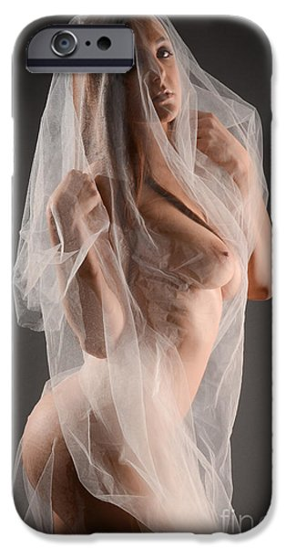 Seductive iPhone Cases - Sheer Nude Art iPhone Case by Jt PhotoDesign