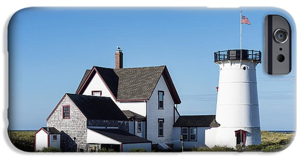 New England Lighthouse iPhone Cases - Stage Harbor Lighthouse iPhone Case by John Greim