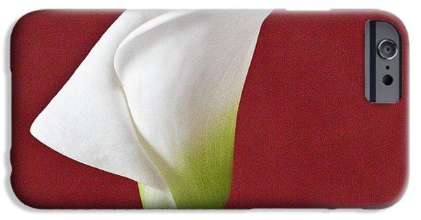 Koehrer-wagner_heiko iPhone Cases - White Calla iPhone Case by Heiko Koehrer-Wagner