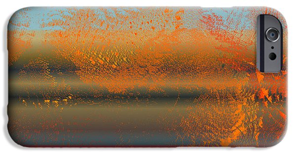 Abstract Digital Drawings iPhone Cases - 6004f1 iPhone Case by Mickey Harris