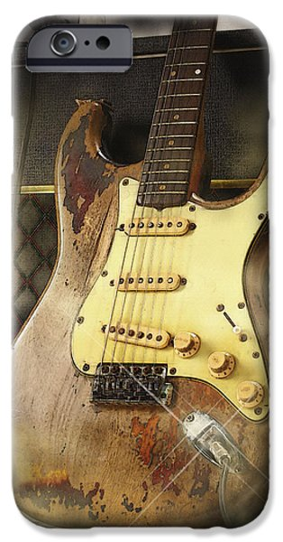 Michael iPhone Cases - 61 Fender Stratocaster iPhone Case by Don Kuing