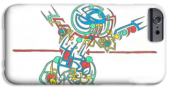 Electricity Drawings iPhone Cases - Electricity iPhone Case by Scott Soucy