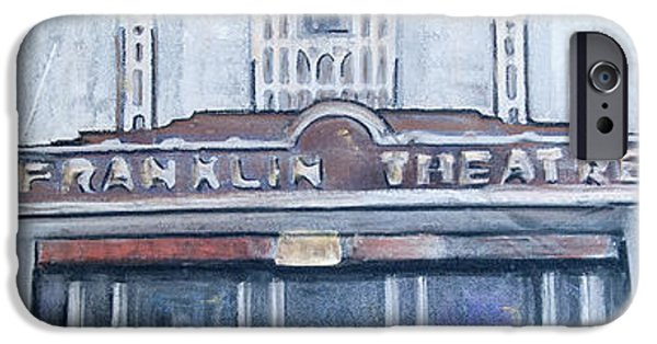 Historic Franklin Tennessee iPhone Cases - #62 Going to the Franklin Theatre iPhone Case by Alison Poland