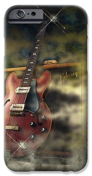 Michael iPhone Cases - 68 Gibson ES-335 iPhone Case by Don Kuing