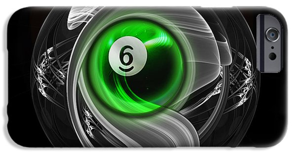 Abstracts iPhone Cases - 6Fractuled iPhone Case by Draw Shots