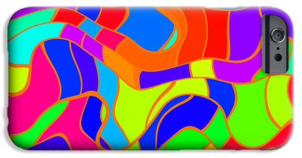 Blue Abstracts iPhone Cases - Abstract Art iPhone Case by Victor Gladkiy