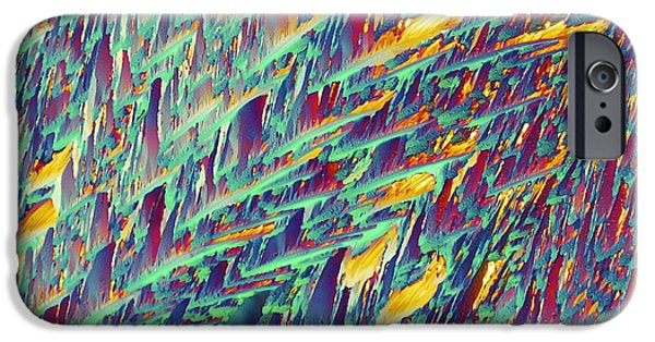 Adrenaline iPhone Cases - Adrenaline, Polarized Light Micrograph iPhone Case by Pasieka