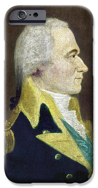 American Revolution iPhone Cases - Alexander Hamilton iPhone Case by Granger